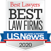 An image of the US News & World Report Badge for Best Law Firms 2020 for Steinberg Garellek in Metro Tier 2 in Tax Law