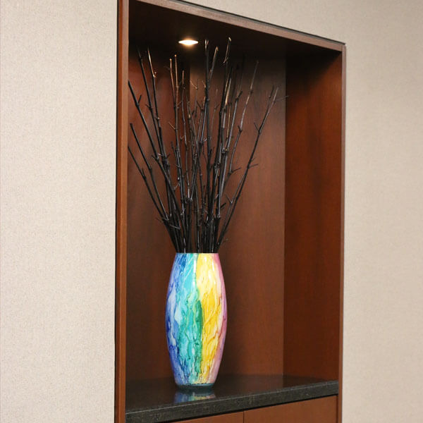 An image of a vase in a law firm that links to the Taxation Law services provided at Steinberg Garellek of Boca Raton.
